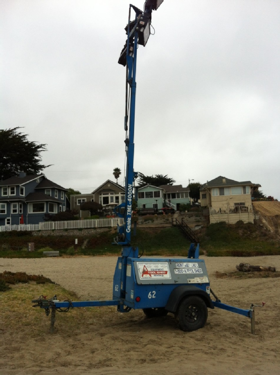 Lights on the beach - For July 4th Celebration in Santa Cruz County