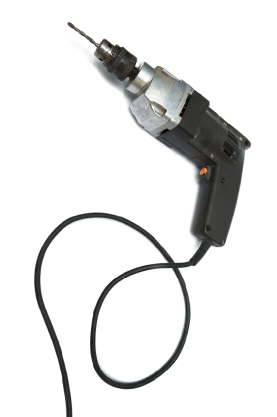 Powerful electric drill