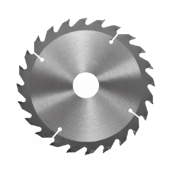 Circular saw blade for wood isolated on white background